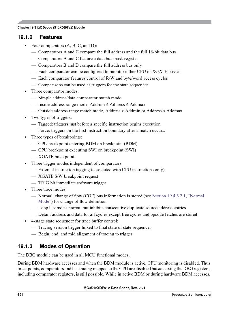 MC9S12XDT512MAL ,Freescale Semiconductor厂商,IC MCU 512K FLASH 112-LQFP, MC9S12XDT512MAL datasheet预览  第692页