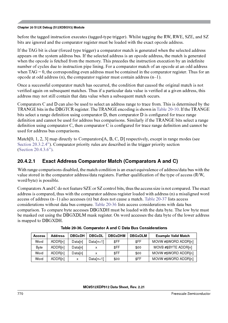 MC9S12XDT512MAL ,Freescale Semiconductor厂商,IC MCU 512K FLASH 112-LQFP, MC9S12XDT512MAL datasheet预览  第768页