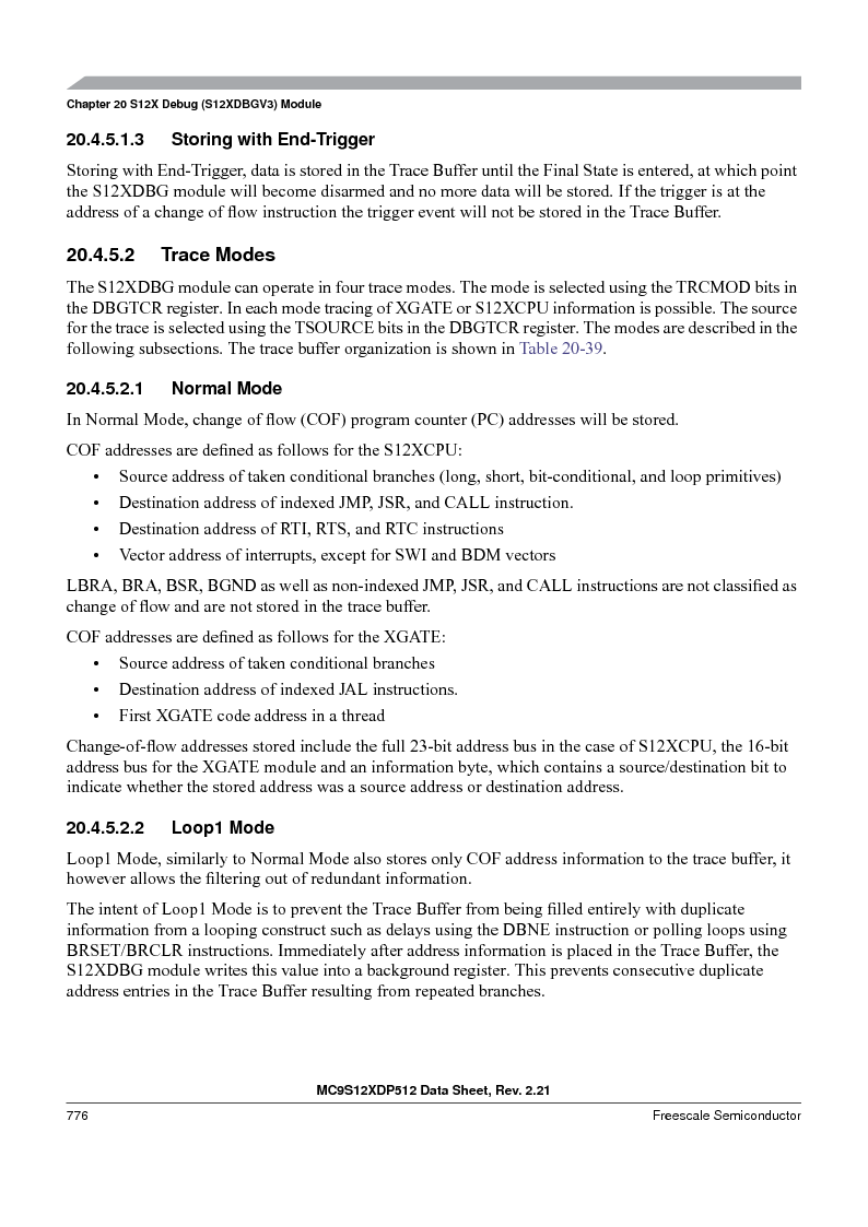 MC9S12XDT512MAL ,Freescale Semiconductor厂商,IC MCU 512K FLASH 112-LQFP, MC9S12XDT512MAL datasheet预览  第774页