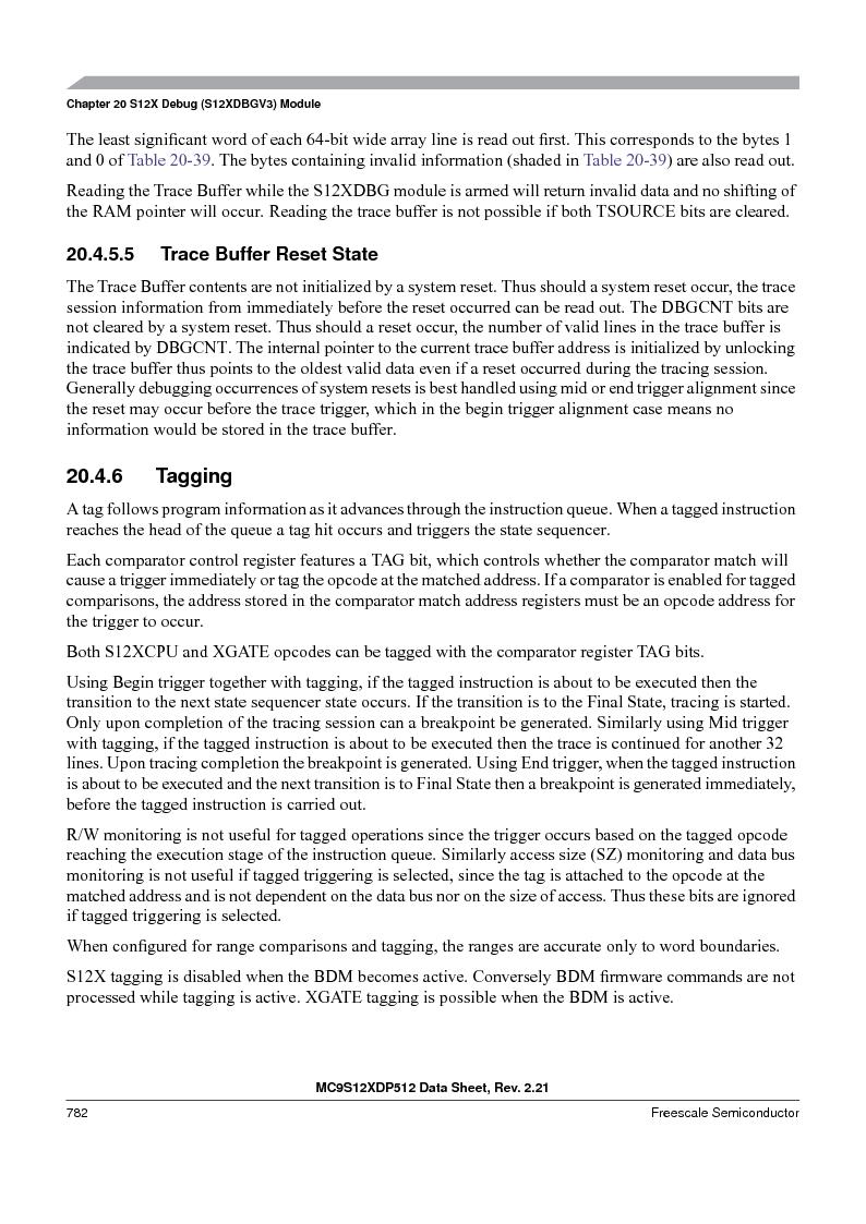 MC9S12XDT512MAL ,Freescale Semiconductor厂商,IC MCU 512K FLASH 112-LQFP, MC9S12XDT512MAL datasheet预览  第780页