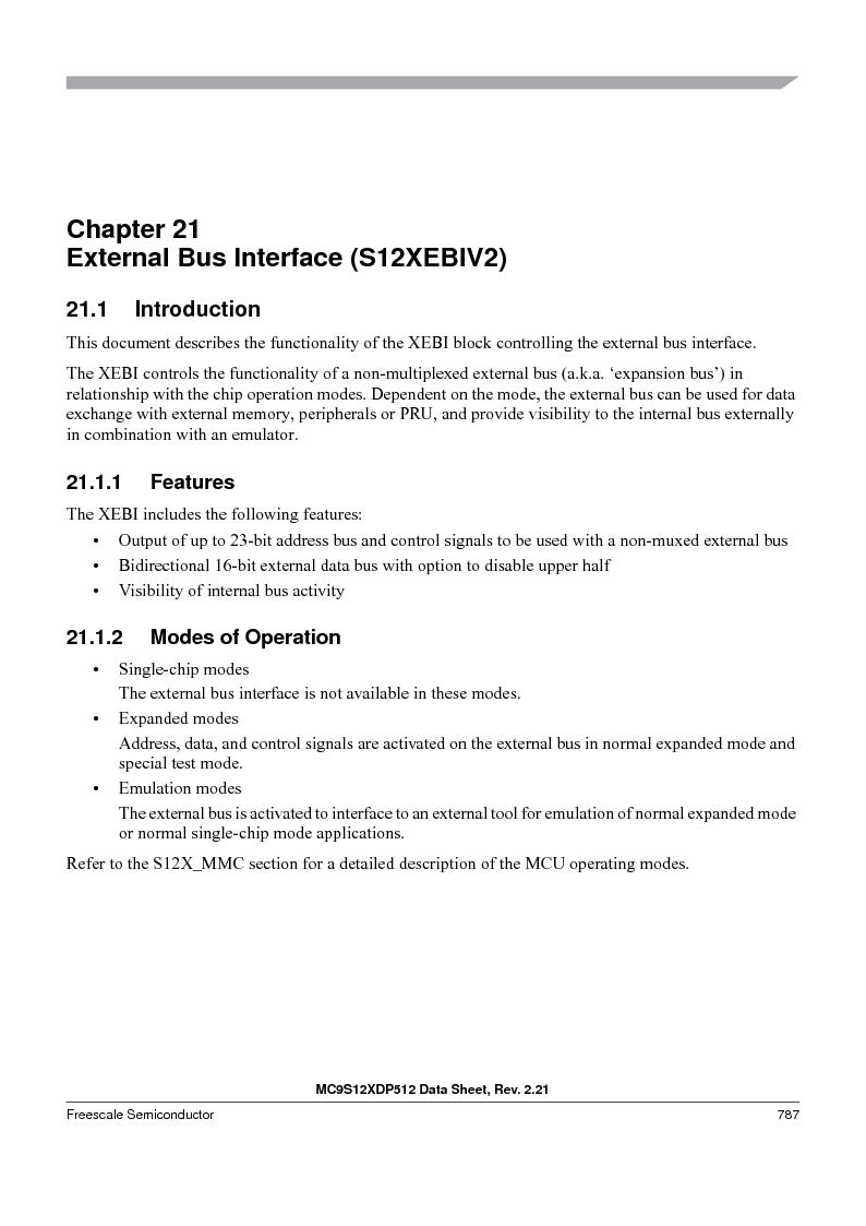 MC9S12XDT512MAL ,Freescale Semiconductor厂商,IC MCU 512K FLASH 112-LQFP, MC9S12XDT512MAL datasheet预览  第785页