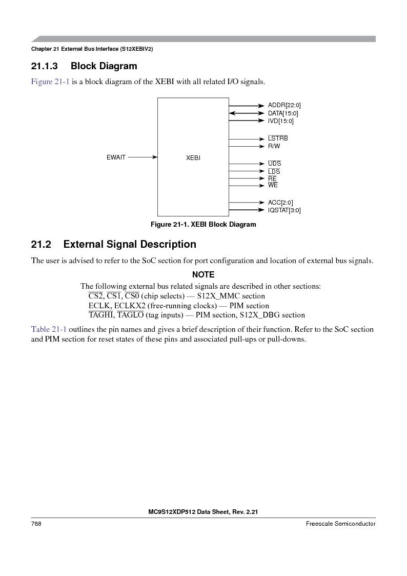 MC9S12XDT512MAL ,Freescale Semiconductor厂商,IC MCU 512K FLASH 112-LQFP, MC9S12XDT512MAL datasheet预览  第786页