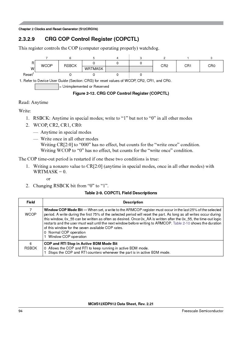 MC9S12XDT512MAL ,Freescale Semiconductor厂商,IC MCU 512K FLASH 112-LQFP, MC9S12XDT512MAL datasheet预览  第94页