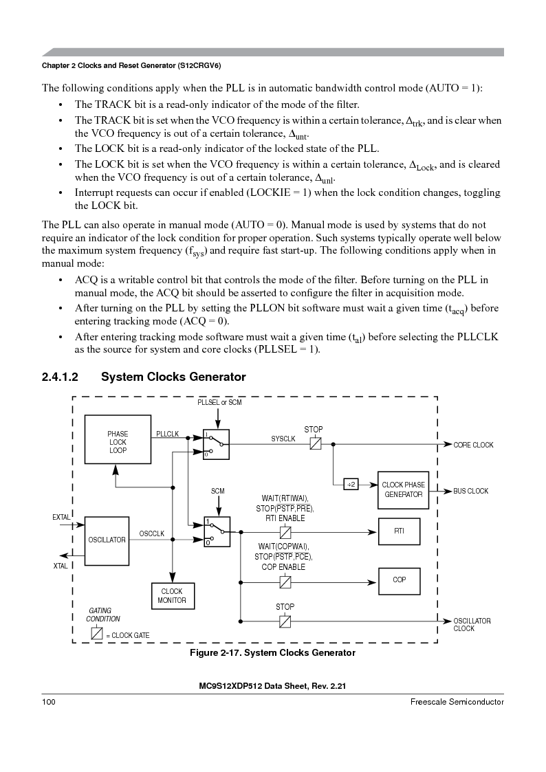 MC9S12XDT512MAL ,Freescale Semiconductor厂商,IC MCU 512K FLASH 112-LQFP, MC9S12XDT512MAL datasheet预览  第100页