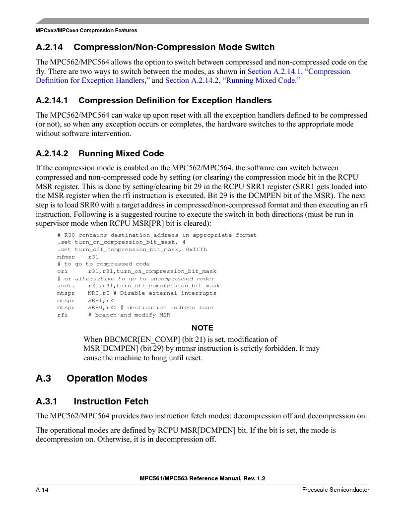 MPC561MZP56R2 ,Freescale Semiconductor厂商,IC MPU 32BIT 56MHZ 388-PBGA, MPC561MZP56R2 datasheet预览  第1102页