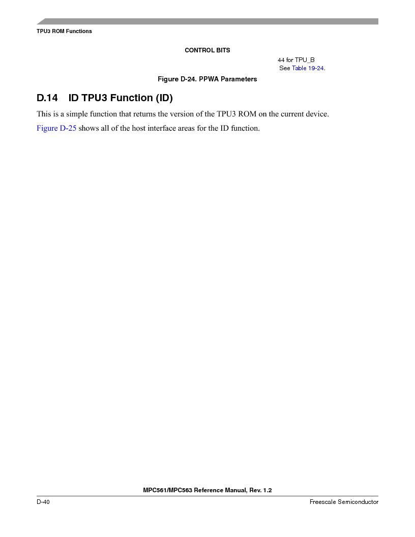 MPC561MZP56R2 ,Freescale Semiconductor厂商,IC MPU 32BIT 56MHZ 388-PBGA, MPC561MZP56R2 datasheet预览  第1192页