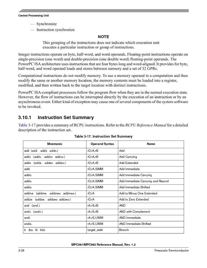 MPC561MZP56R2 ,Freescale Semiconductor厂商,IC MPU 32BIT 56MHZ 388-PBGA, MPC561MZP56R2 datasheet预览  第172页