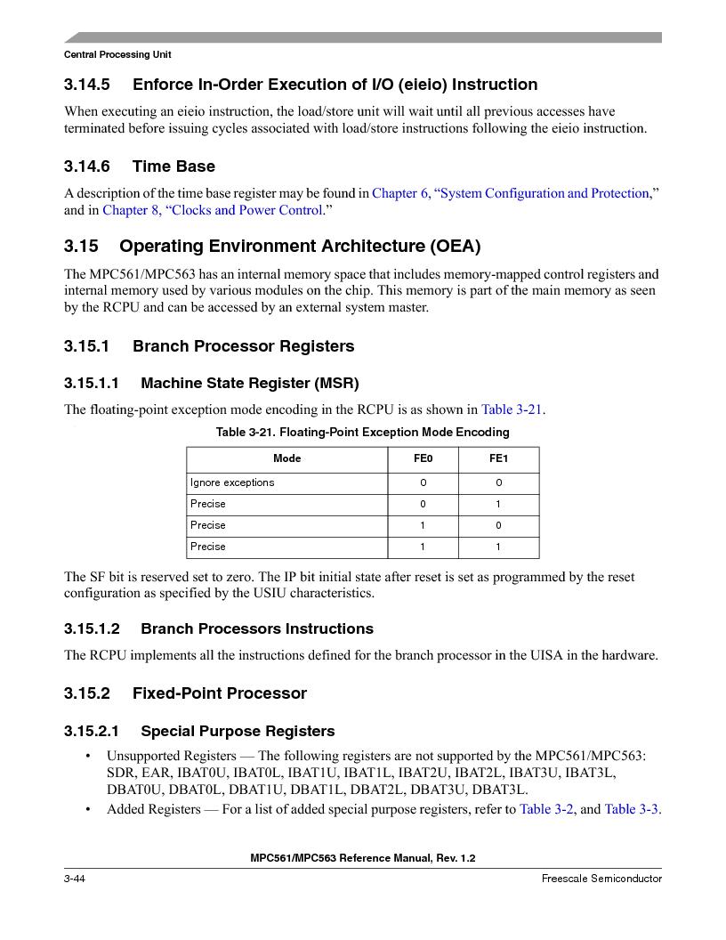 MPC561MZP56R2 ,Freescale Semiconductor厂商,IC MPU 32BIT 56MHZ 388-PBGA, MPC561MZP56R2 datasheet预览  第188页