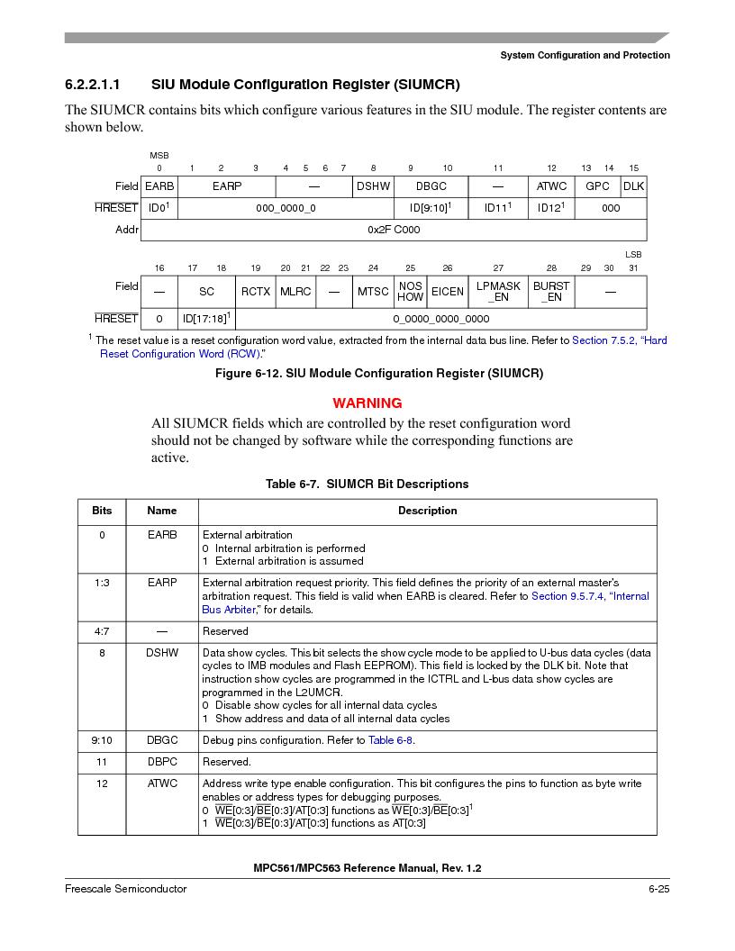 MPC561MZP56R2 ,Freescale Semiconductor厂商,IC MPU 32BIT 56MHZ 388-PBGA, MPC561MZP56R2 datasheet预览  第265页