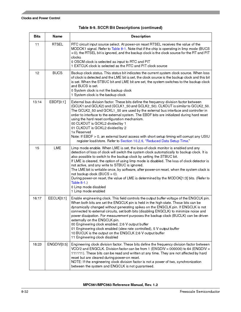 MPC561MZP56R2 ,Freescale Semiconductor厂商,IC MPU 32BIT 56MHZ 388-PBGA, MPC561MZP56R2 datasheet预览  第334页