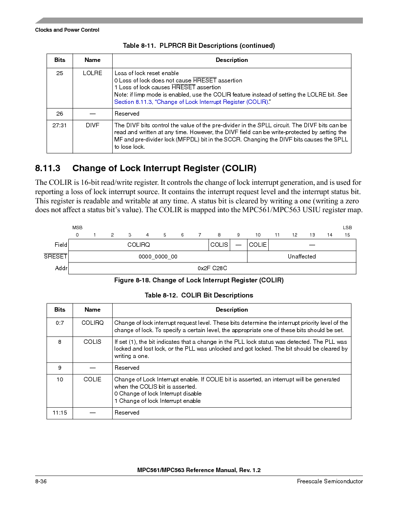 MPC561MZP56R2 ,Freescale Semiconductor厂商,IC MPU 32BIT 56MHZ 388-PBGA, MPC561MZP56R2 datasheet预览  第338页