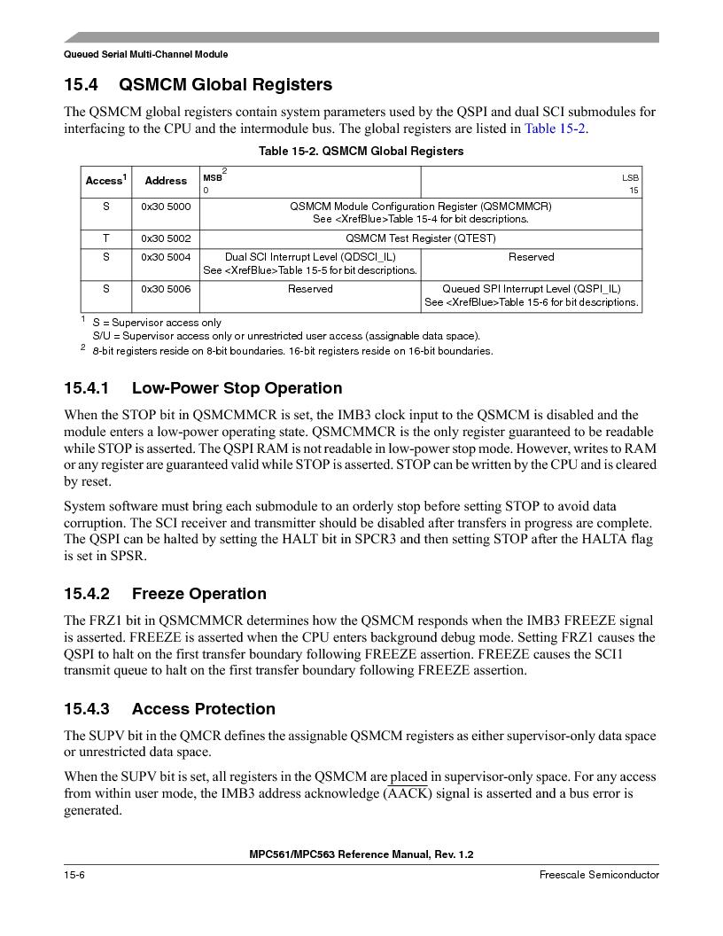 MPC561MZP56R2 ,Freescale Semiconductor厂商,IC MPU 32BIT 56MHZ 388-PBGA, MPC561MZP56R2 datasheet预览  第624页