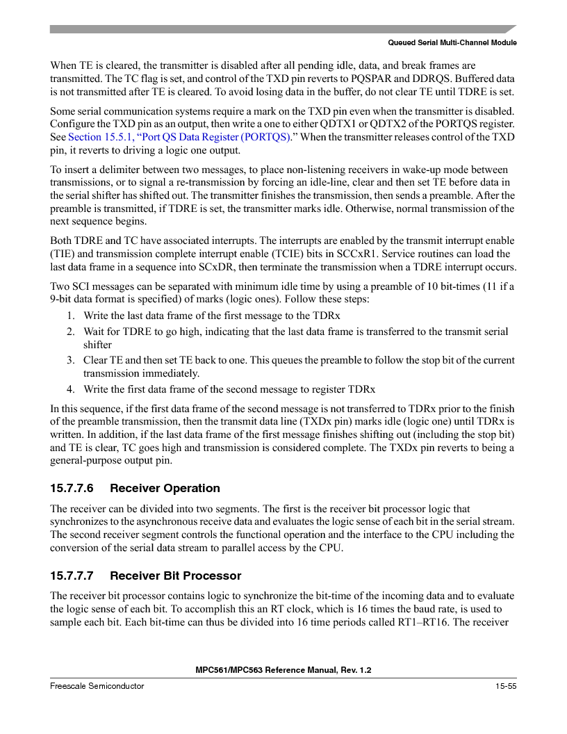 MPC561MZP56R2 ,Freescale Semiconductor厂商,IC MPU 32BIT 56MHZ 388-PBGA, MPC561MZP56R2 datasheet预览  第673页