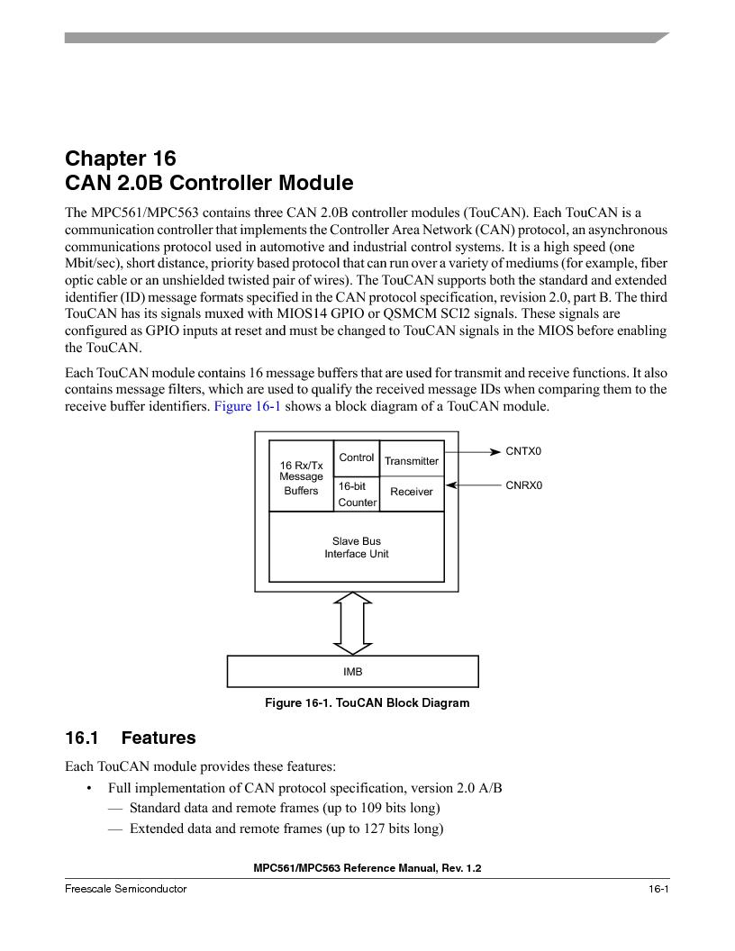 MPC561MZP56R2 ,Freescale Semiconductor厂商,IC MPU 32BIT 56MHZ 388-PBGA, MPC561MZP56R2 datasheet预览  第695页