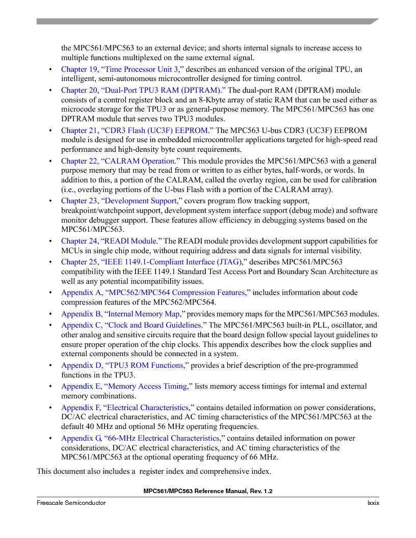 MPC561MZP56R2 ,Freescale Semiconductor厂商,IC MPU 32BIT 56MHZ 388-PBGA, MPC561MZP56R2 datasheet预览  第79页
