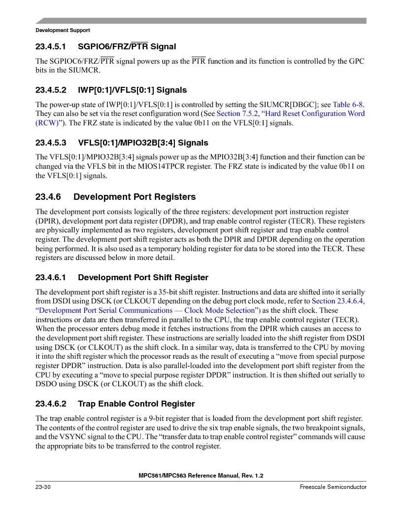 MPC561MZP56R2 ,Freescale Semiconductor厂商,IC MPU 32BIT 56MHZ 388-PBGA, MPC561MZP56R2 datasheet预览  第944页
