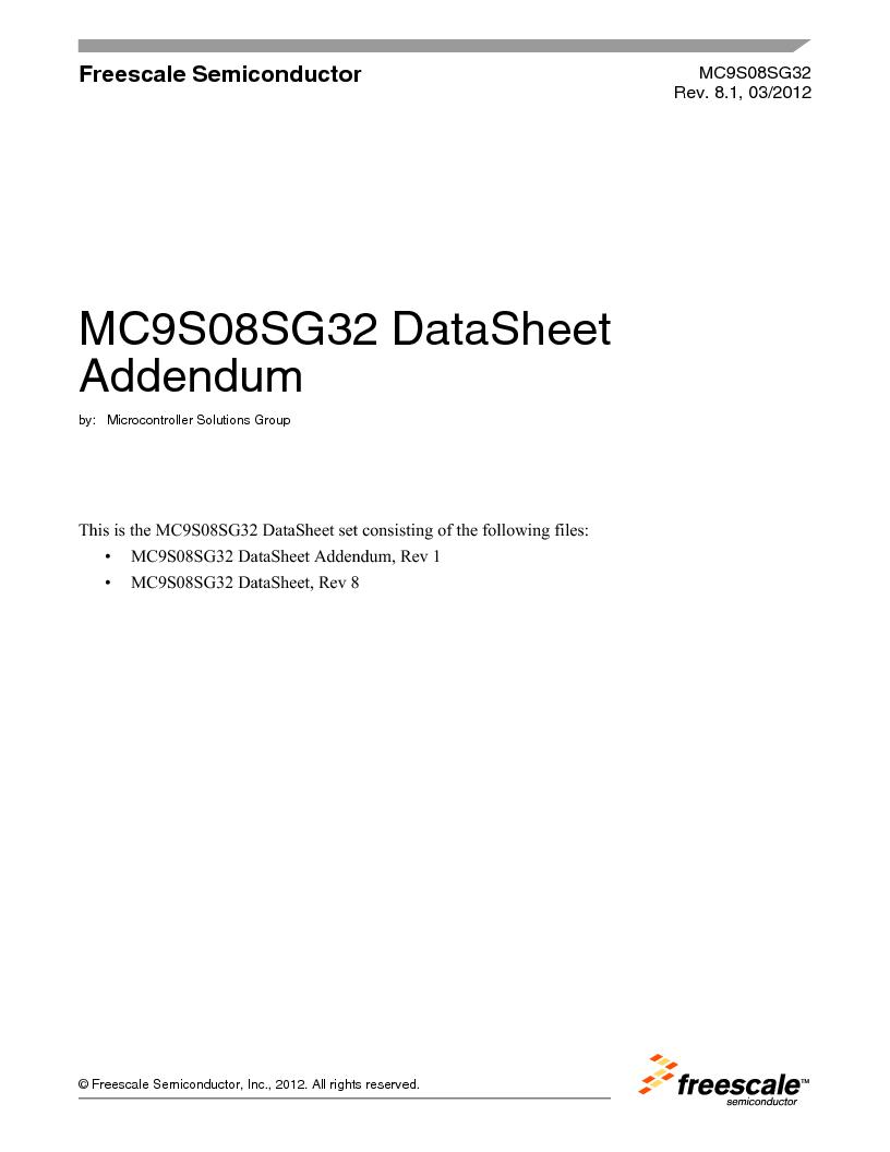 S9S08SG16E1WTL ,Freescale Semiconductor厂商,IC MCU 8BIT 16KB FLASH 28TSSOP, S9S08SG16E1WTL datasheet预览  第1页