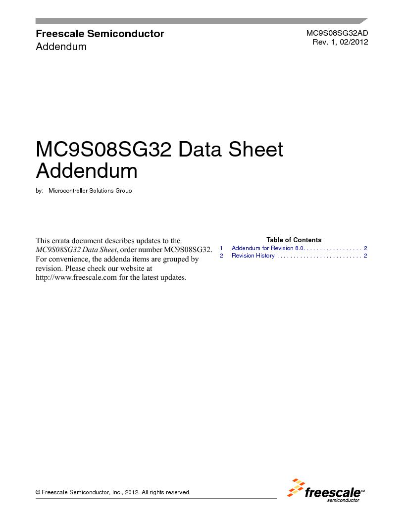 S9S08SG16E1WTL ,Freescale Semiconductor厂商,IC MCU 8BIT 16KB FLASH 28TSSOP, S9S08SG16E1WTL datasheet预览  第2页