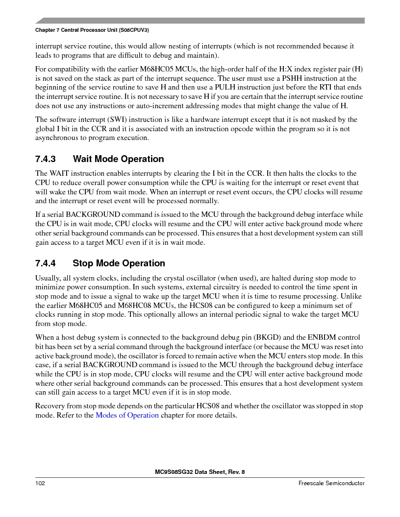 S9S08SG16E1WTL ,Freescale Semiconductor厂商,IC MCU 8BIT 16KB FLASH 28TSSOP, S9S08SG16E1WTL datasheet预览  第108页