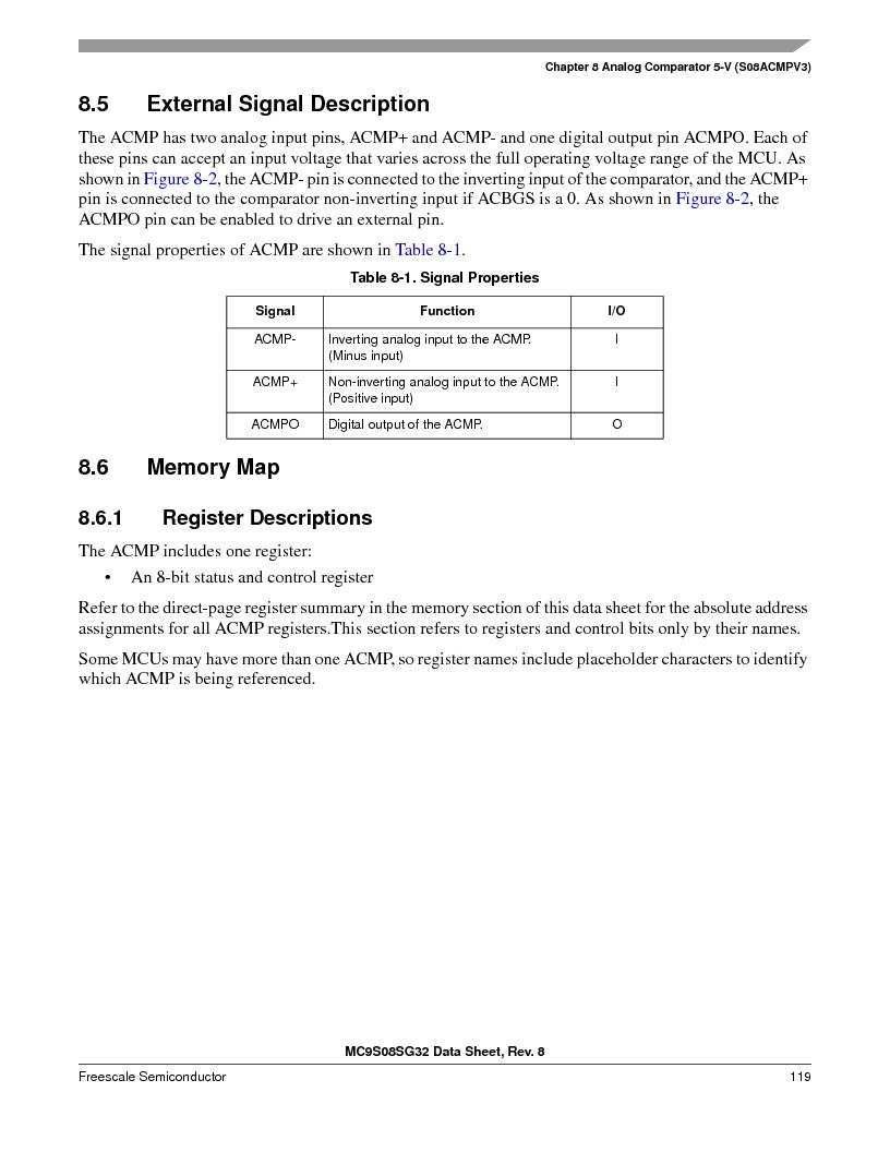 S9S08SG16E1WTL ,Freescale Semiconductor厂商,IC MCU 8BIT 16KB FLASH 28TSSOP, S9S08SG16E1WTL datasheet预览  第125页