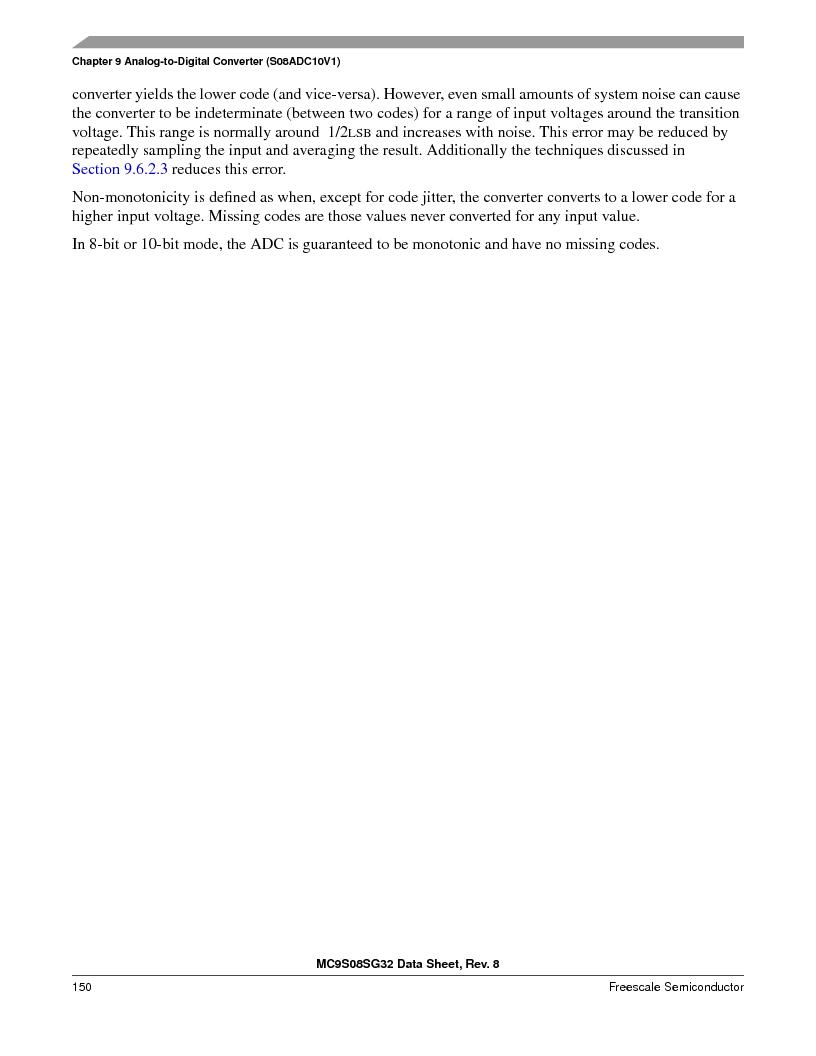 S9S08SG16E1WTL ,Freescale Semiconductor厂商,IC MCU 8BIT 16KB FLASH 28TSSOP, S9S08SG16E1WTL datasheet预览  第156页
