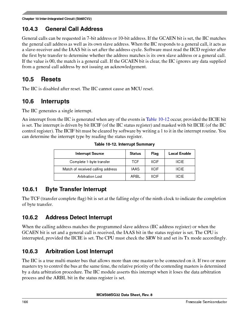 S9S08SG16E1WTL ,Freescale Semiconductor厂商,IC MCU 8BIT 16KB FLASH 28TSSOP, S9S08SG16E1WTL datasheet预览  第172页