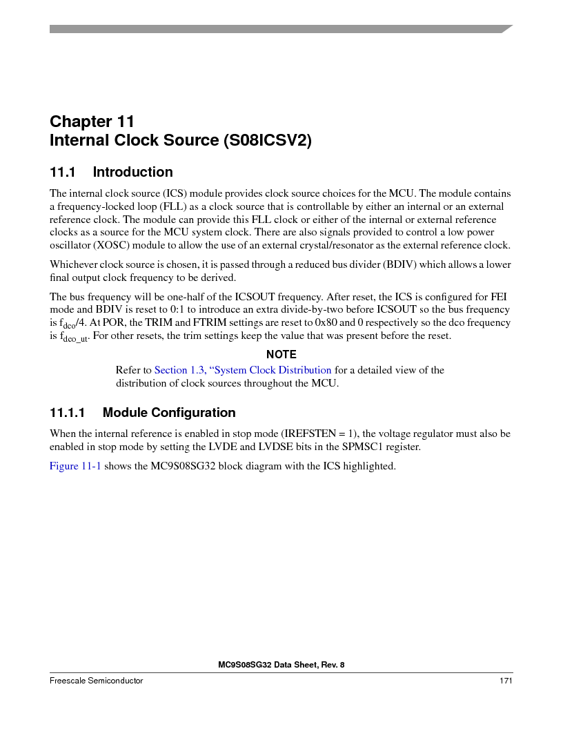 S9S08SG16E1WTL ,Freescale Semiconductor厂商,IC MCU 8BIT 16KB FLASH 28TSSOP, S9S08SG16E1WTL datasheet预览  第177页