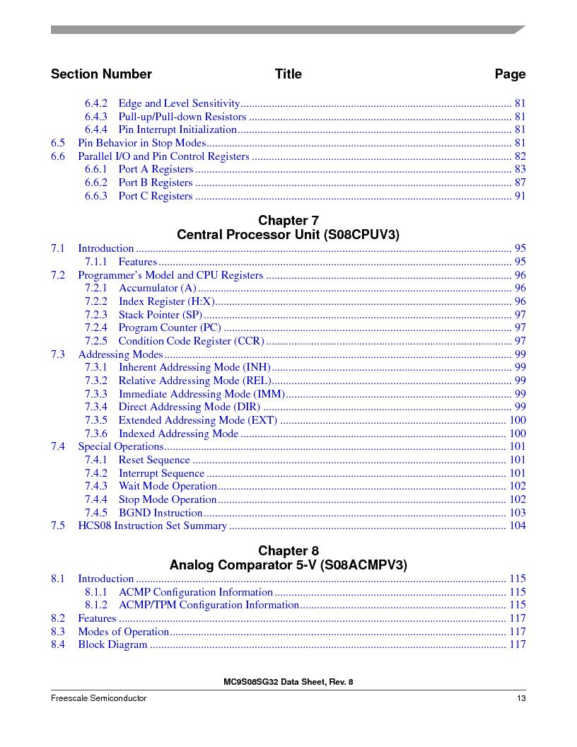 S9S08SG16E1WTL ,Freescale Semiconductor厂商,IC MCU 8BIT 16KB FLASH 28TSSOP, S9S08SG16E1WTL datasheet预览  第19页