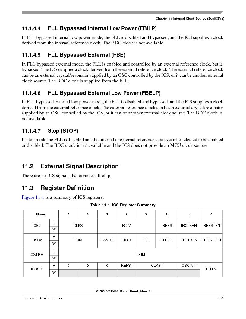 S9S08SG16E1WTL ,Freescale Semiconductor厂商,IC MCU 8BIT 16KB FLASH 28TSSOP, S9S08SG16E1WTL datasheet预览  第181页