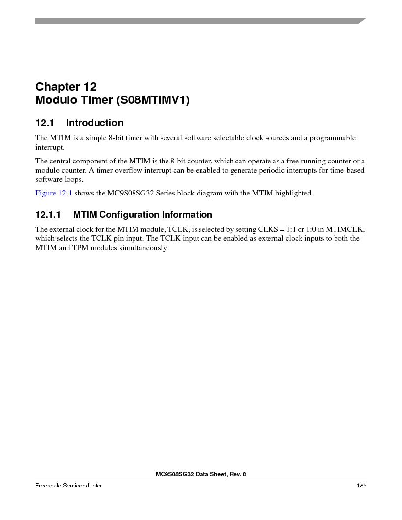S9S08SG16E1WTL ,Freescale Semiconductor厂商,IC MCU 8BIT 16KB FLASH 28TSSOP, S9S08SG16E1WTL datasheet预览  第191页