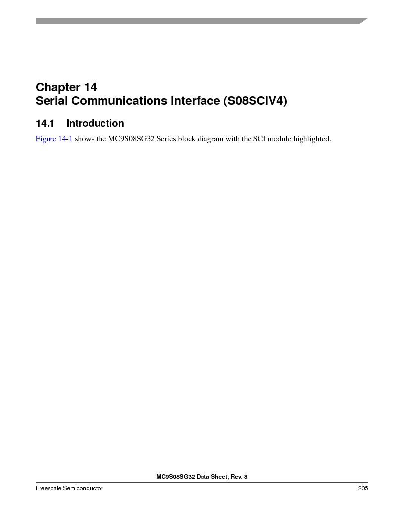 S9S08SG16E1WTL ,Freescale Semiconductor厂商,IC MCU 8BIT 16KB FLASH 28TSSOP, S9S08SG16E1WTL datasheet预览  第211页