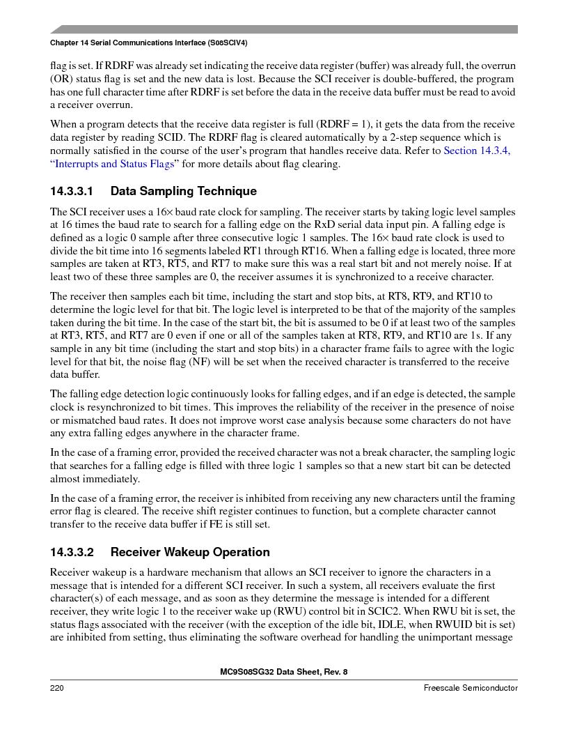 S9S08SG16E1WTL ,Freescale Semiconductor厂商,IC MCU 8BIT 16KB FLASH 28TSSOP, S9S08SG16E1WTL datasheet预览  第226页