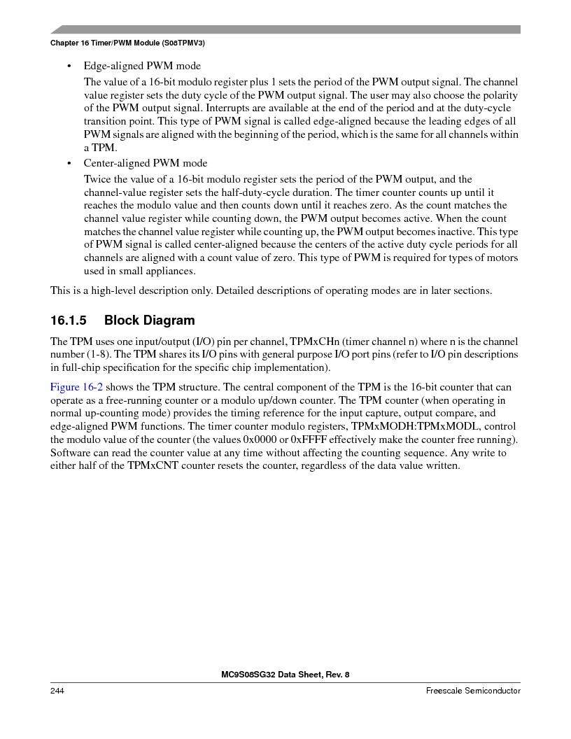 S9S08SG16E1WTL ,Freescale Semiconductor厂商,IC MCU 8BIT 16KB FLASH 28TSSOP, S9S08SG16E1WTL datasheet预览  第250页