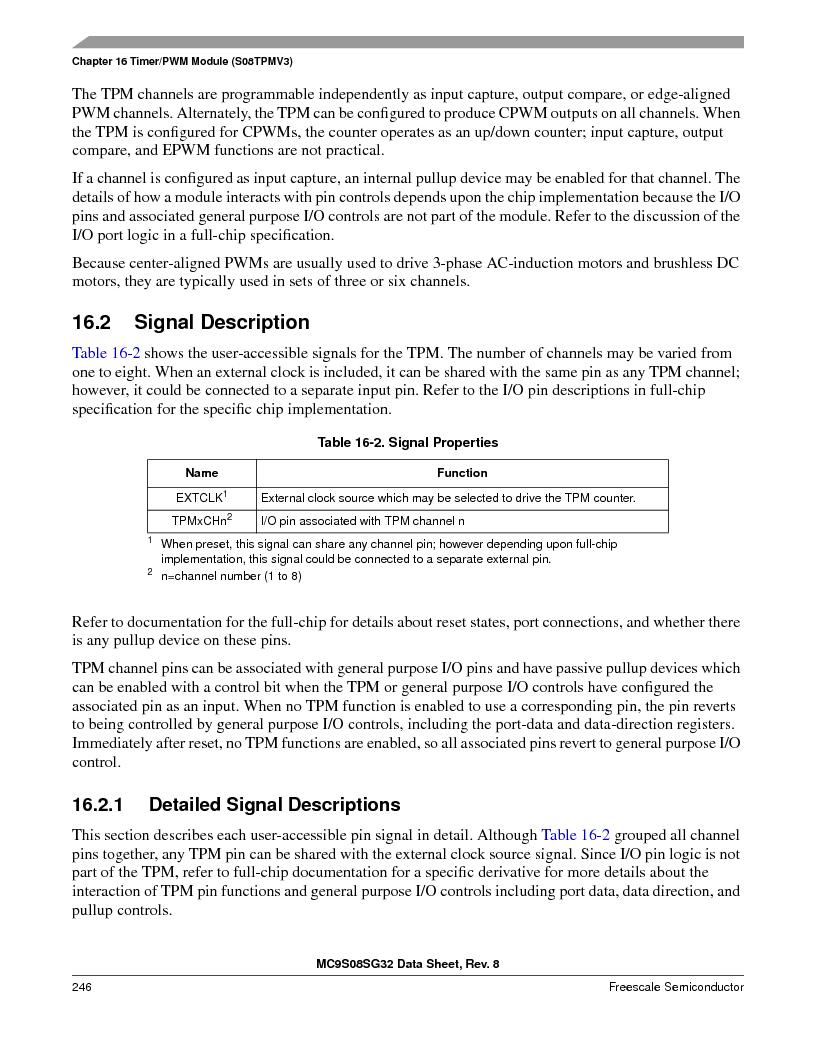 S9S08SG16E1WTL ,Freescale Semiconductor厂商,IC MCU 8BIT 16KB FLASH 28TSSOP, S9S08SG16E1WTL datasheet预览  第252页