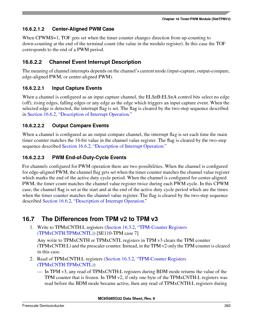 S9S08SG16E1WTL ,Freescale Semiconductor厂商,IC MCU 8BIT 16KB FLASH 28TSSOP, S9S08SG16E1WTL datasheet预览  第269页