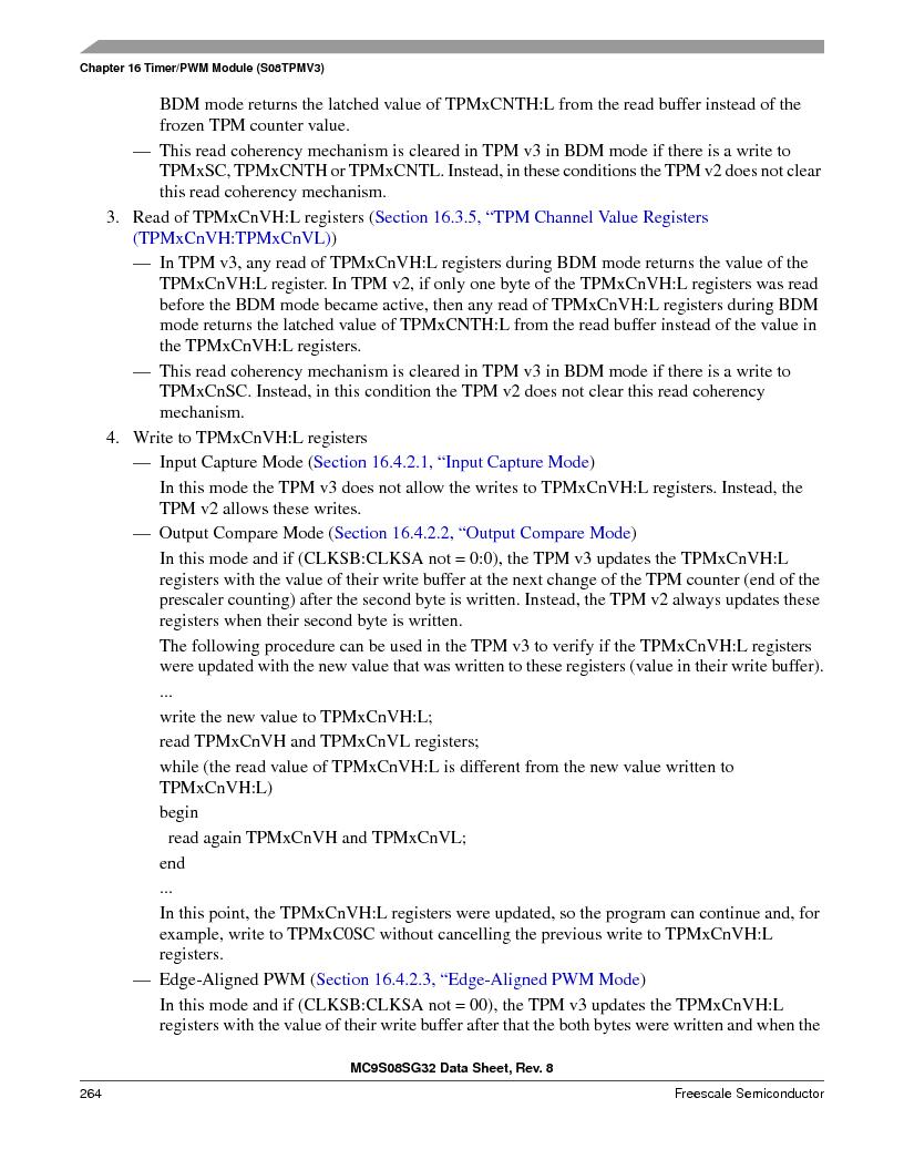 S9S08SG16E1WTL ,Freescale Semiconductor厂商,IC MCU 8BIT 16KB FLASH 28TSSOP, S9S08SG16E1WTL datasheet预览  第270页