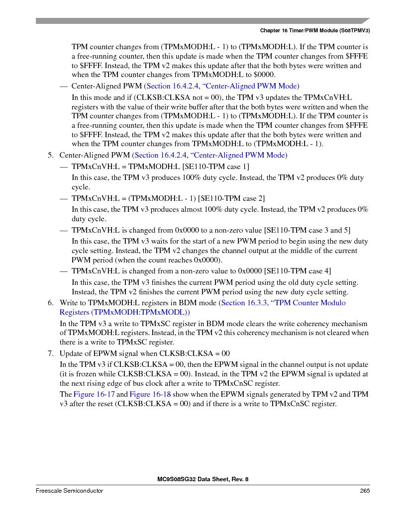 S9S08SG16E1WTL ,Freescale Semiconductor厂商,IC MCU 8BIT 16KB FLASH 28TSSOP, S9S08SG16E1WTL datasheet预览  第271页