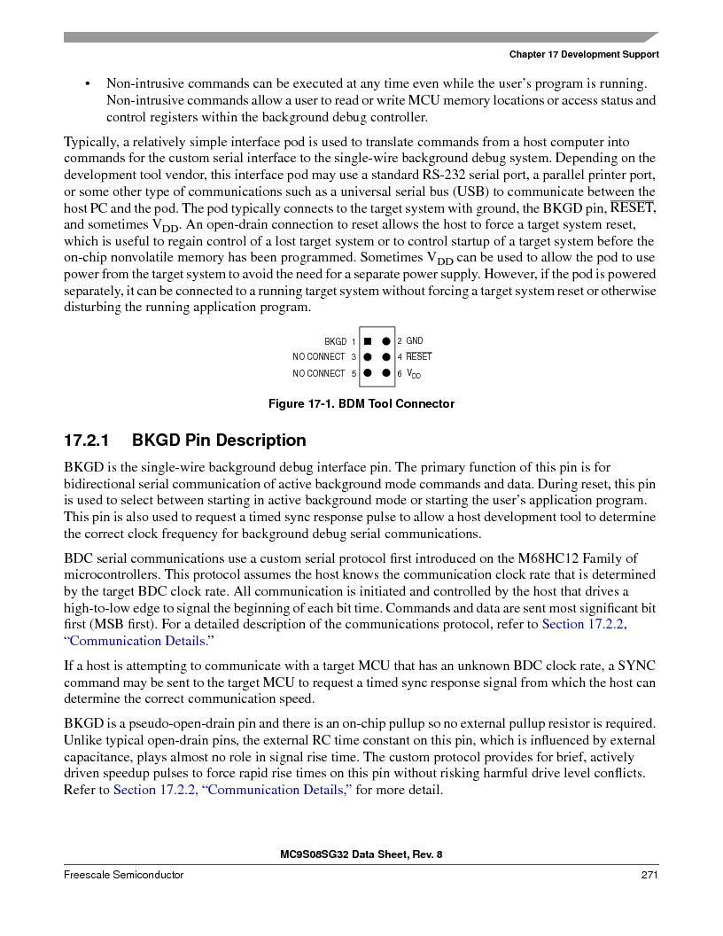 S9S08SG16E1WTL ,Freescale Semiconductor厂商,IC MCU 8BIT 16KB FLASH 28TSSOP, S9S08SG16E1WTL datasheet预览  第277页