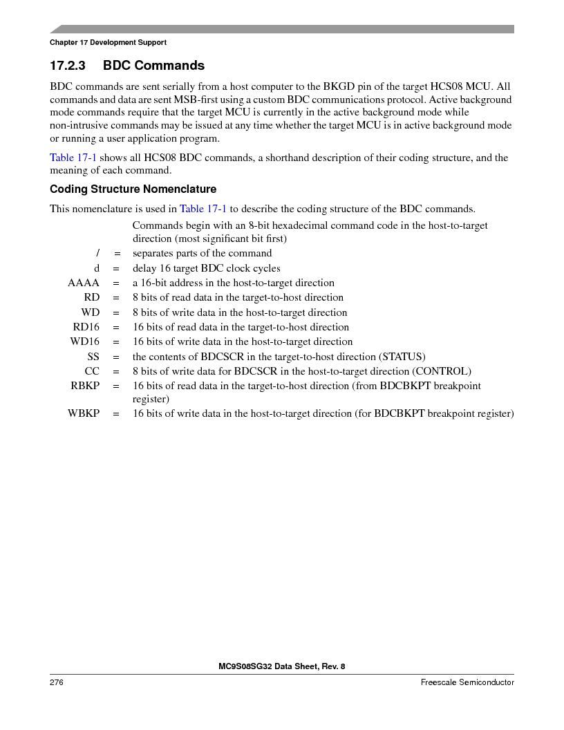 S9S08SG16E1WTL ,Freescale Semiconductor厂商,IC MCU 8BIT 16KB FLASH 28TSSOP, S9S08SG16E1WTL datasheet预览  第282页