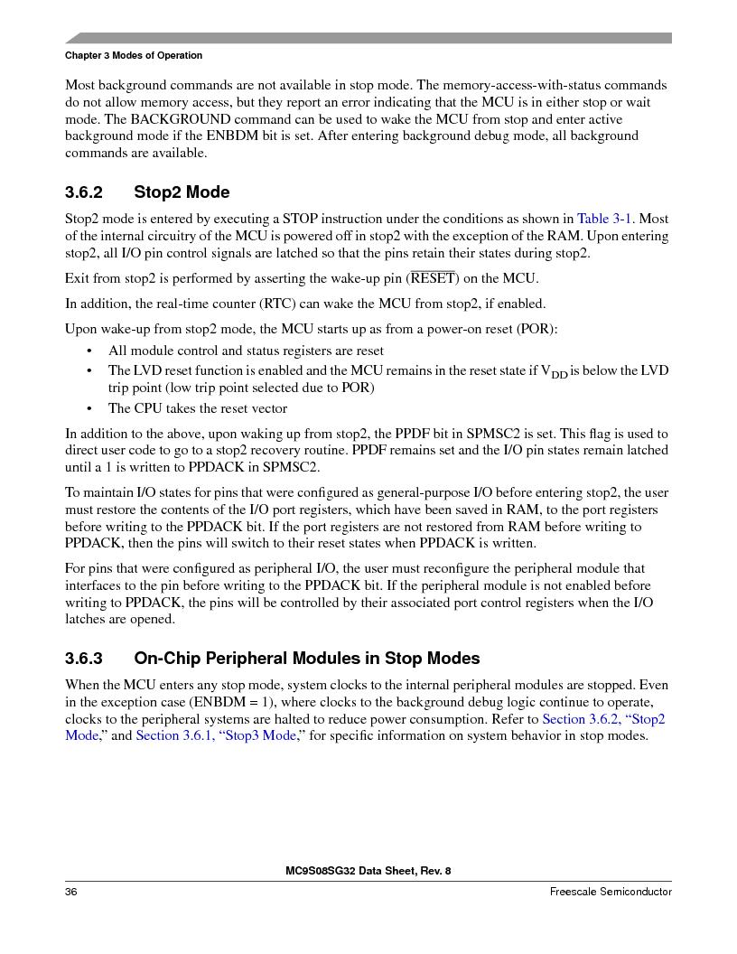 S9S08SG16E1WTL ,Freescale Semiconductor厂商,IC MCU 8BIT 16KB FLASH 28TSSOP, S9S08SG16E1WTL datasheet预览  第42页