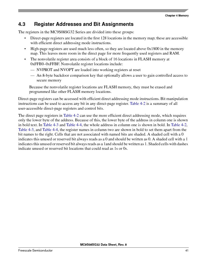 S9S08SG16E1WTL ,Freescale Semiconductor厂商,IC MCU 8BIT 16KB FLASH 28TSSOP, S9S08SG16E1WTL datasheet预览  第47页