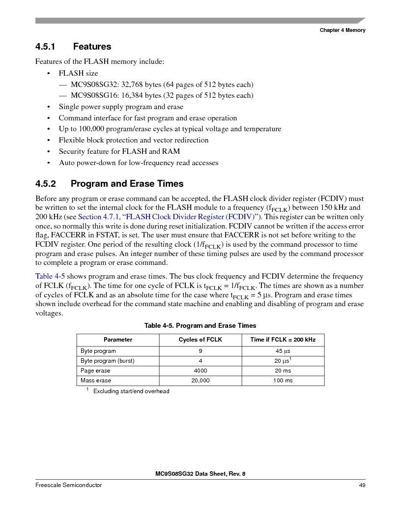 S9S08SG16E1WTL ,Freescale Semiconductor厂商,IC MCU 8BIT 16KB FLASH 28TSSOP, S9S08SG16E1WTL datasheet预览  第55页