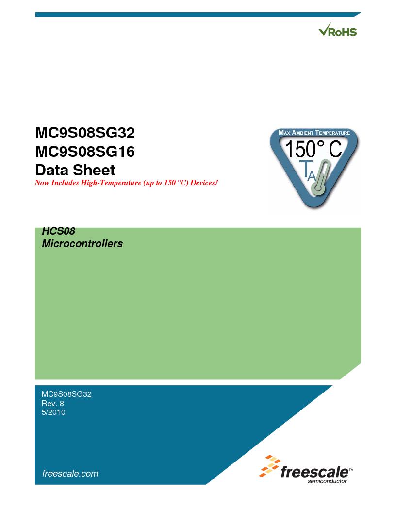S9S08SG16E1WTL ,Freescale Semiconductor厂商,IC MCU 8BIT 16KB FLASH 28TSSOP, S9S08SG16E1WTL datasheet预览  第7页
