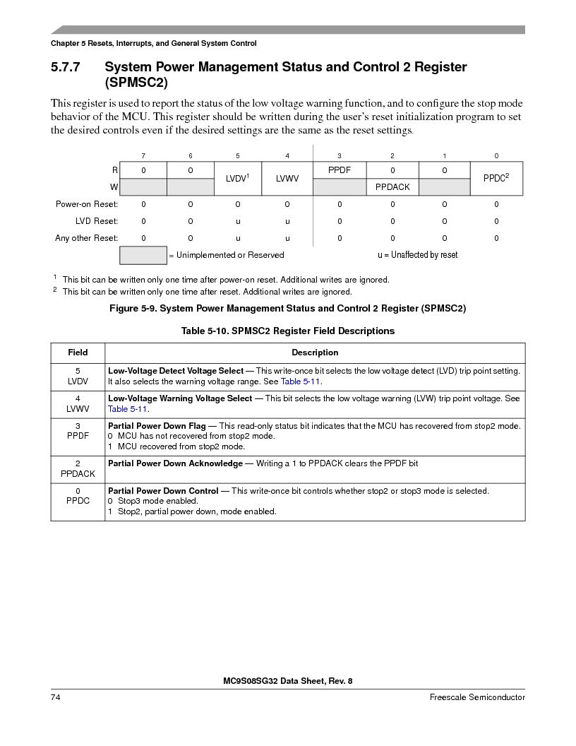 S9S08SG16E1WTL ,Freescale Semiconductor厂商,IC MCU 8BIT 16KB FLASH 28TSSOP, S9S08SG16E1WTL datasheet预览  第80页