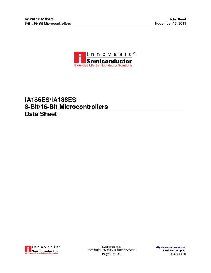 IA188ES-PTQ100I-R-03 ,Innovasic Semiconductor厂商,IC MCU 8/16BIT 40MHZ 100TQFP, IA188ES-PTQ100I-R-03 datasheet预览  第1页