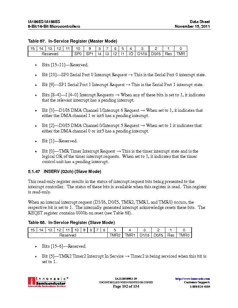 IA188ES-PTQ100I-R-03 ,Innovasic Semiconductor厂商,IC MCU 8/16BIT 40MHZ 100TQFP, IA188ES-PTQ100I-R-03 datasheet预览  第102页