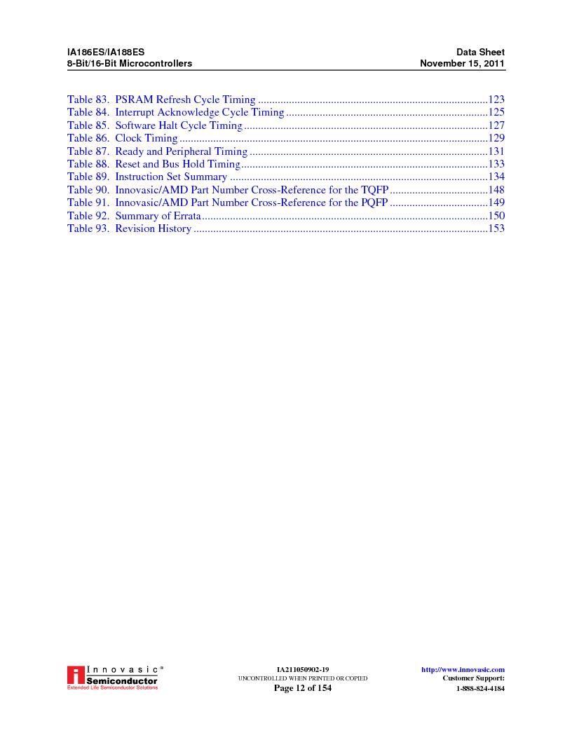 IA188ES-PTQ100I-R-03 ,Innovasic Semiconductor厂商,IC MCU 8/16BIT 40MHZ 100TQFP, IA188ES-PTQ100I-R-03 datasheet预览  第12页