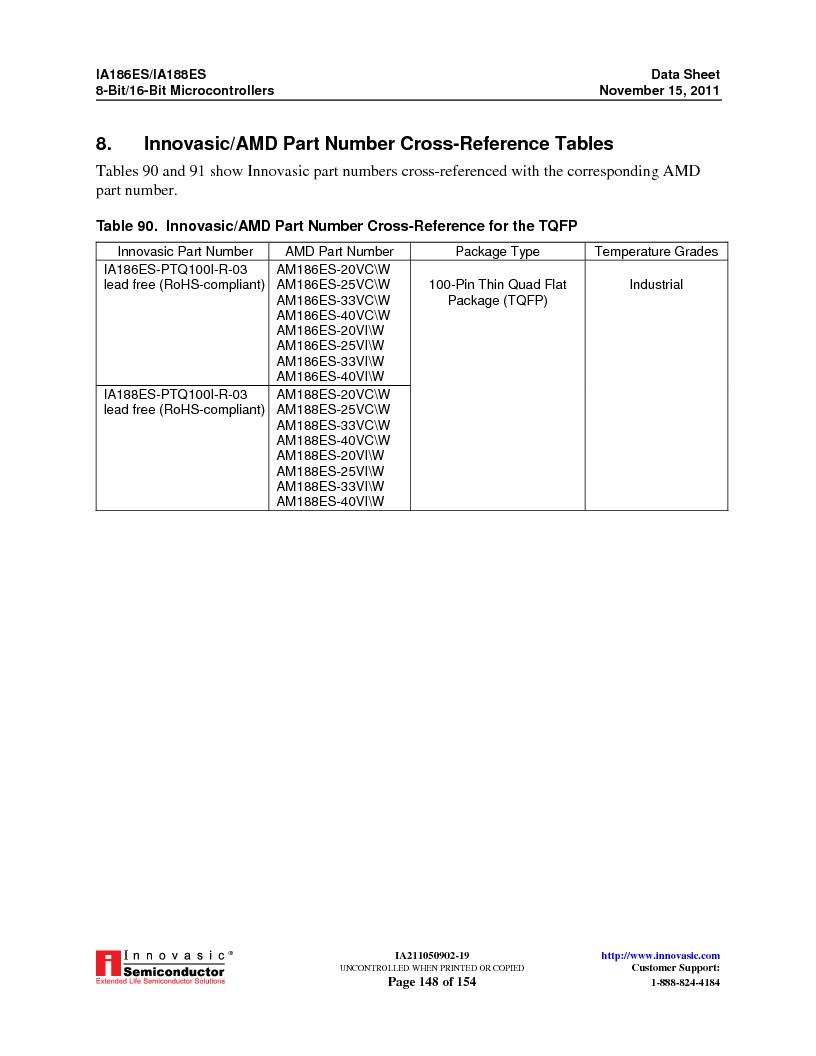 IA188ES-PTQ100I-R-03 ,Innovasic Semiconductor厂商,IC MCU 8/16BIT 40MHZ 100TQFP, IA188ES-PTQ100I-R-03 datasheet预览  第148页