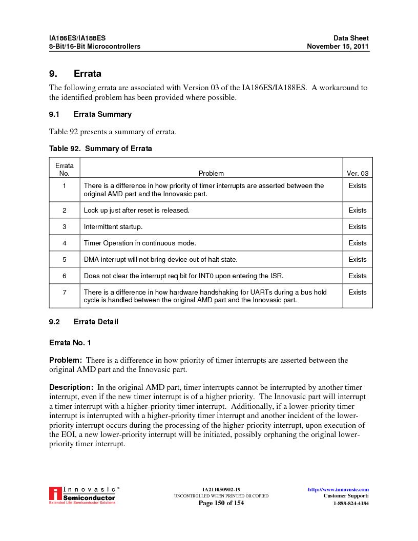 IA188ES-PTQ100I-R-03 ,Innovasic Semiconductor厂商,IC MCU 8/16BIT 40MHZ 100TQFP, IA188ES-PTQ100I-R-03 datasheet预览  第150页