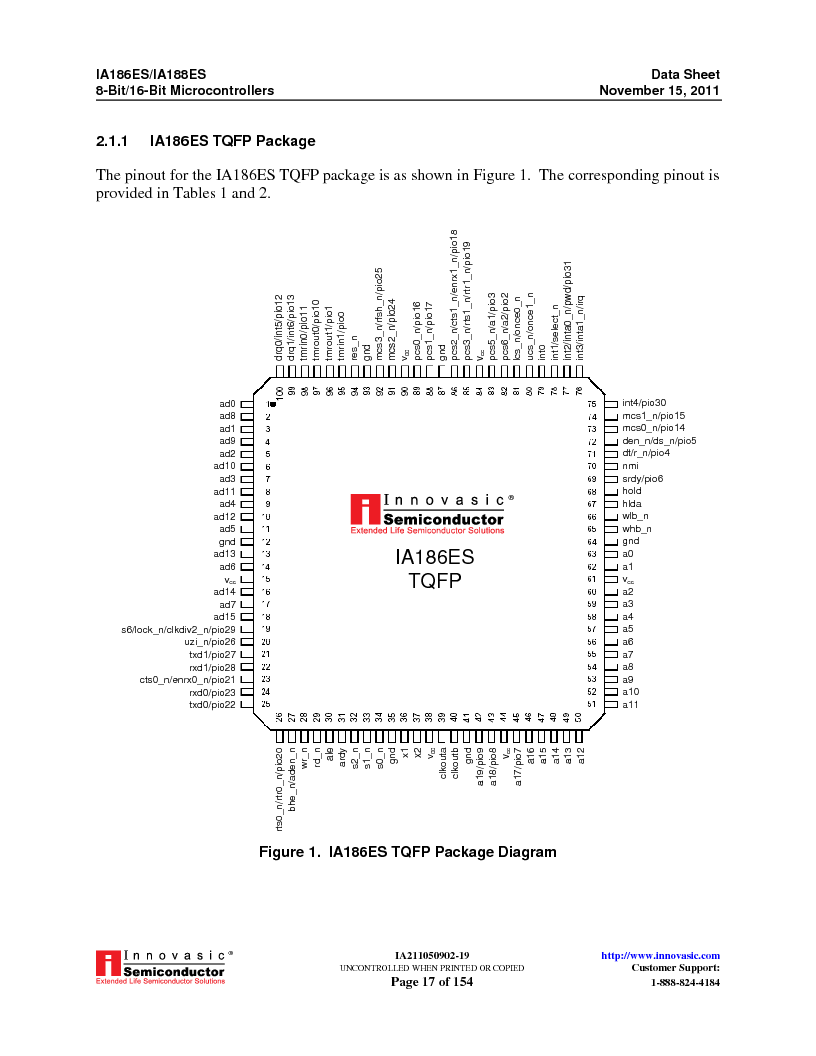 IA188ES-PTQ100I-R-03 ,Innovasic Semiconductor厂商,IC MCU 8/16BIT 40MHZ 100TQFP, IA188ES-PTQ100I-R-03 datasheet预览  第17页